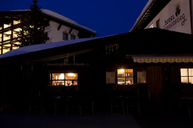 Hotel Sonnenburg bei Nacht