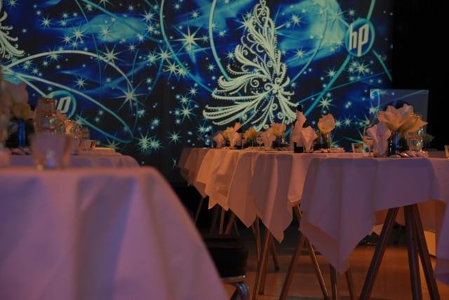 MQ Arena21 Weihnachtsfeier HP Visuals Lichttapete Foto MQ