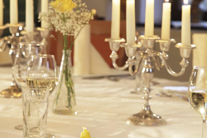 Abendessen Kerzenschein Fisch
