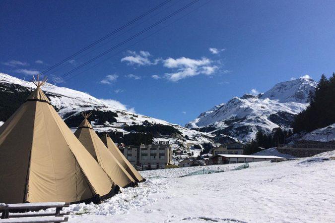 alpentipi im schnee