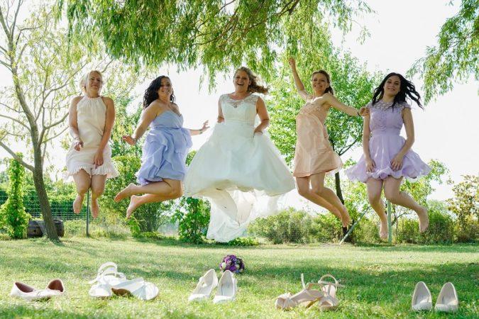 Brautjungern mit Braut