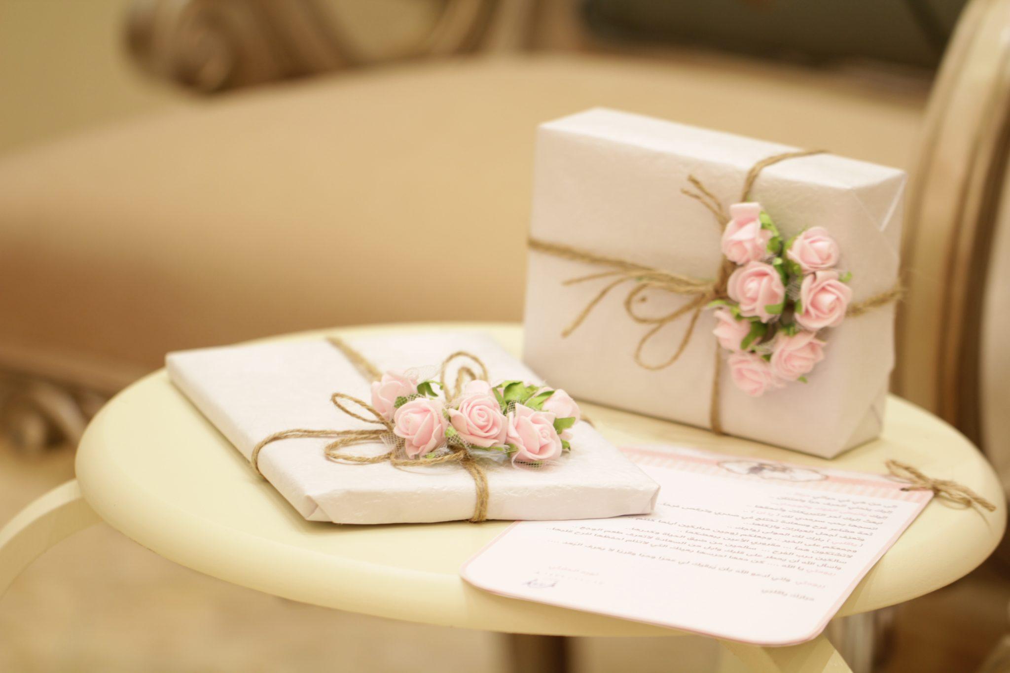 Hochzeitsgeschenke verpackt
